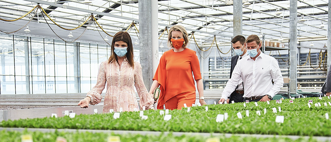 Queen Mathilde pays a company visit to Gediflora