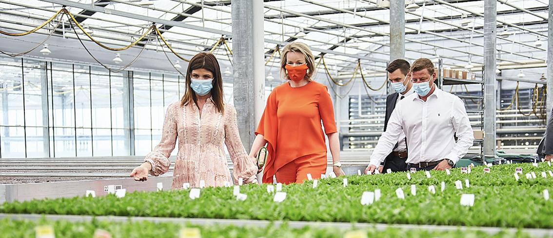 Königin Mathilde besucht Gediflora