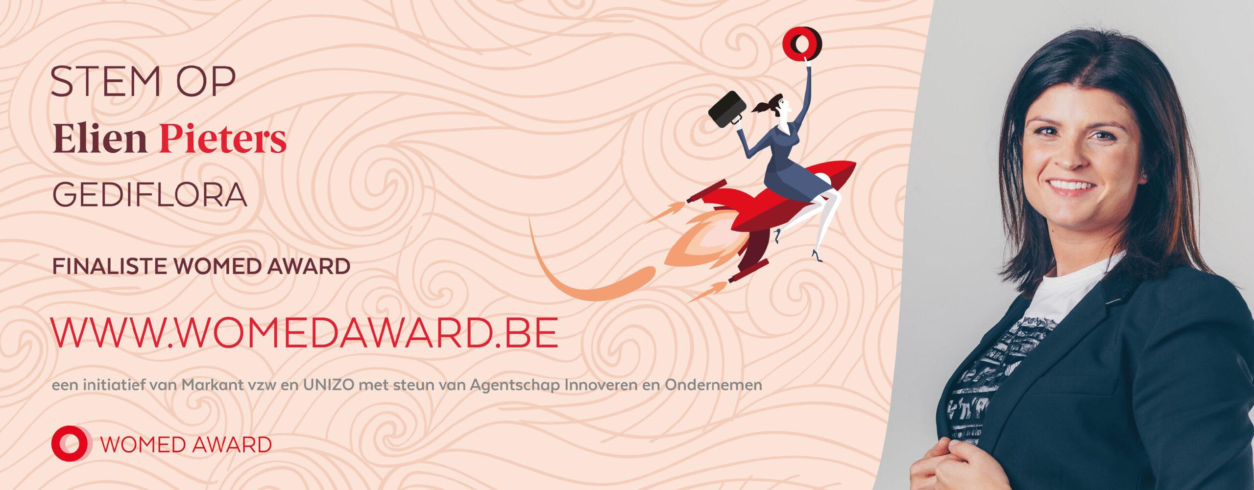 Unique pour le secteur : Elien Pieters (Gediflora) est nominée comme «femme entrepreneure de l'année».